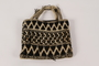 Black and white knit bag used in slave labor camps by a Polish Jewish woman