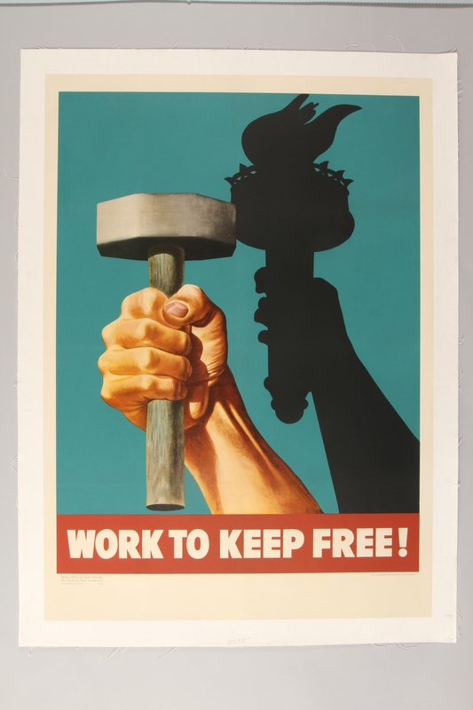 2015.466.2 front Poster, Work to Keep Free!