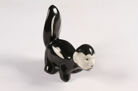 2015.238.17 right side Ceramic figurine of a skunk with Adolf Hitler's face  Click to enlarge