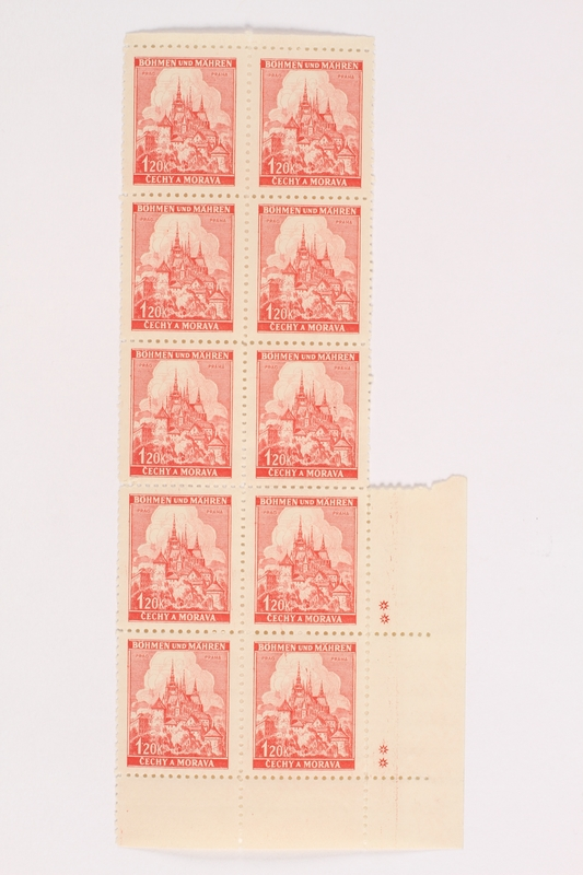 2002.436.43 front Czech postage stamps, 120K