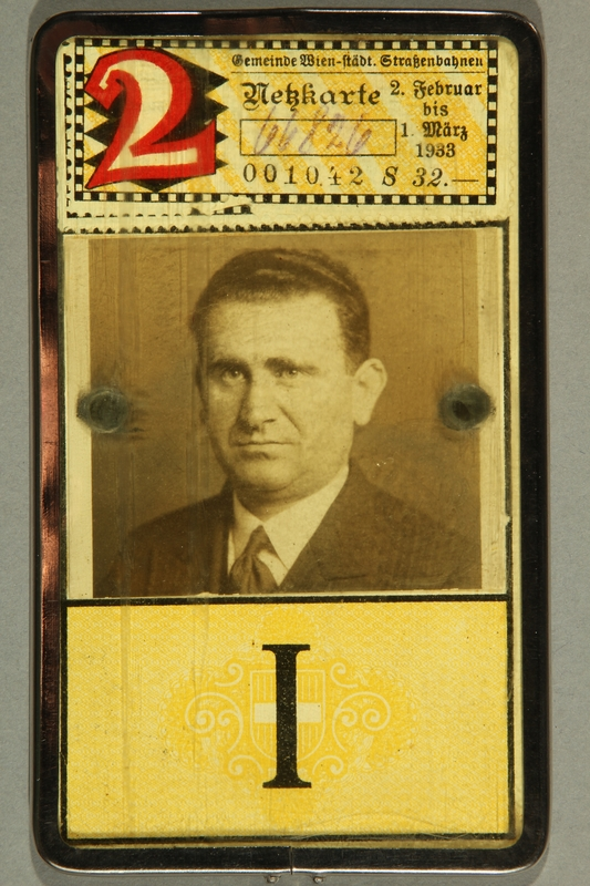 2015.590.2 front Transit pass used prewar by a Jewish refugee
