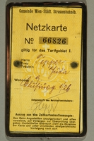 2015.590.2 back Transit pass used prewar by a Jewish refugee  Click to enlarge