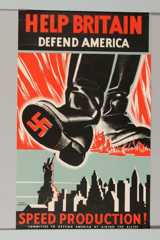 2015.469.1 front American propaganda poster about the need to aid Great Britain