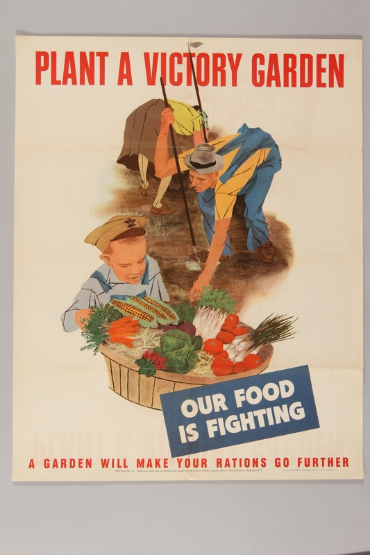 2015.469.2 front US wartime poster urging people to grow victory gardens