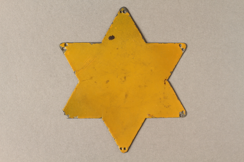 2016.113.1 front Metal Star of David template