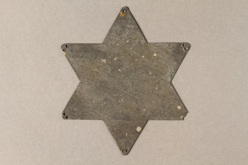 2016.113.1 back Metal Star of David template