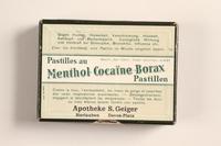 2004.614.2 top Pastilles au Menthol-Cocaine-Borax box  Click to enlarge
