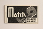 Match brand razor blade