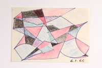 2004.614.20 front Pencil and ink drawing of geometric shapes  Click to enlarge
