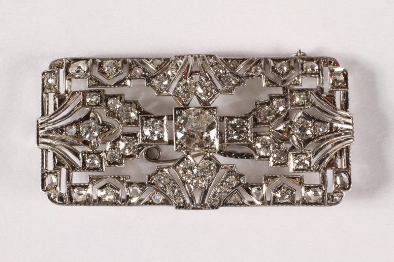 2015.515.2 front Hand crafted diamond brooch made by the father an Austrian Jewish boy and given to him before his emigration