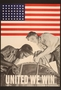 US poster promoting victory over racism at home and fascism abroad