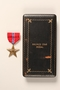 Bronze Star medal with box and certificate awarded to a Jewish American soldier
