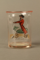 2016.184.8 back Drinking glass with caricature a Jew on his hobby horse, Old Clothes  Click to enlarge