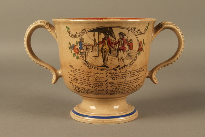 2016.184.12 back Staffordshire loving cup printed with Lord Gordon's circumcision