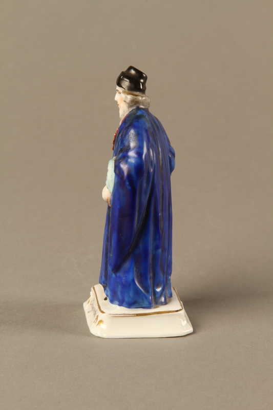 2016.184.13 left side Porcelain figure of Shylock, richly dressed and carrying a dagger