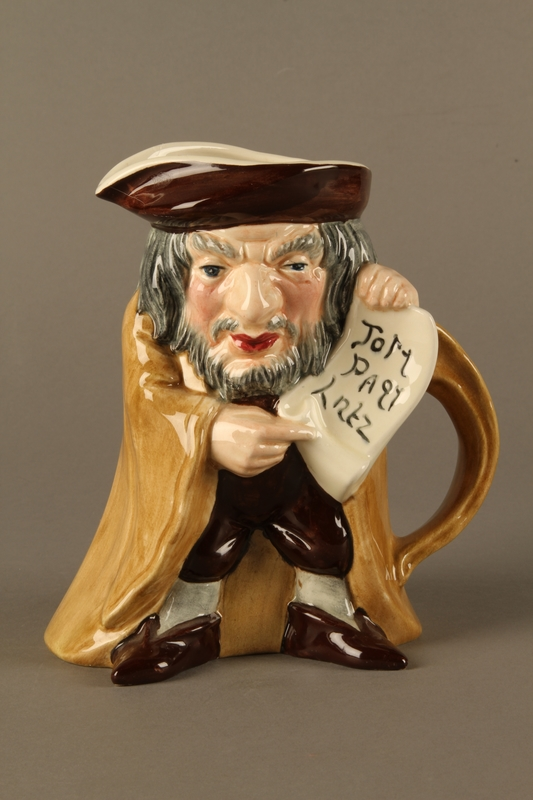 2016.184.17 front Toby Jug of Shylock holding his contract