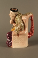 2016.184.18 left side Staffordshire character pitcher of Shylock  Click to enlarge