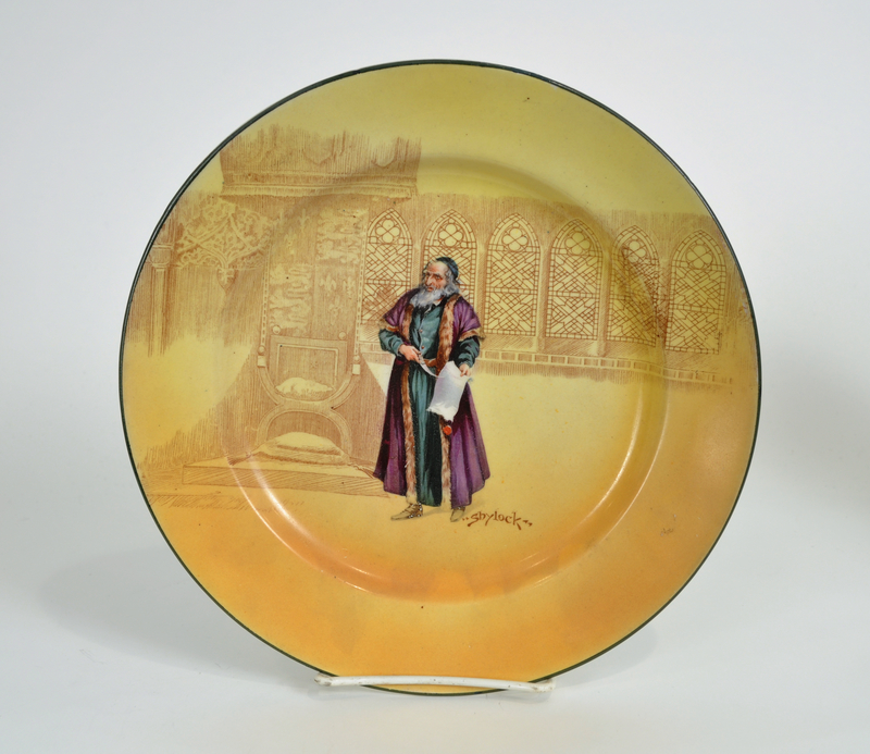 Royal Doulton Shakespeare seriesware with Shylock presenting
