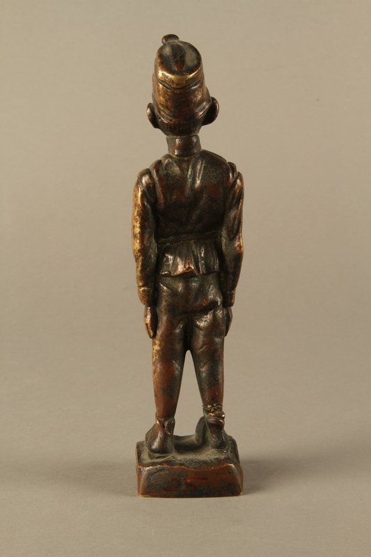 2016.184.25 back Comical figurine of a Jewish soldier, Austro-Hungarian Army