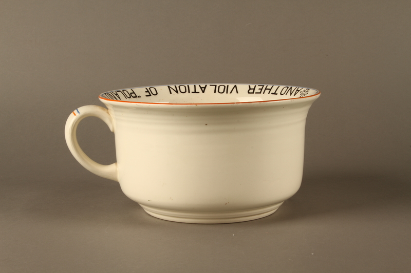 2016.184.27 back Musical chamber pot with an image of Hitler