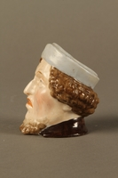 2016.184.29 left side Porcelain cup shaped as the head of a sneering Jewish man  Click to enlarge