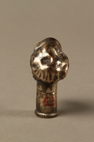 2016.184.57 back Silver plated cane knob shaped as a Jewish man in cap with sidelocks  Click to enlarge
