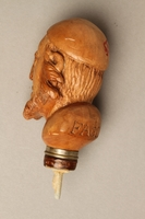 2016.184.59 back Wooden walking stick knob carved as Fagin's head  Click to enlarge