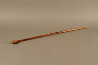 2016.184.62 left side Wooden cane with a carved grip of a Jewish man with painted eyes  Click to enlarge