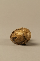 2016.184.66 top Bronze cane knob in the shape of a squinting Jewish man's head  Click to enlarge