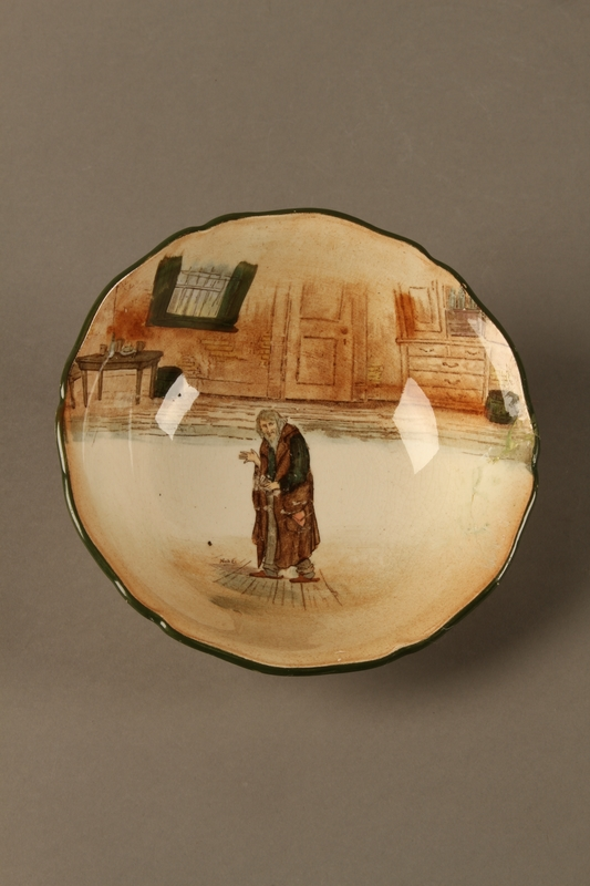 2016.184.70 front Royal Doulton Dickens ware bowl with Fagin