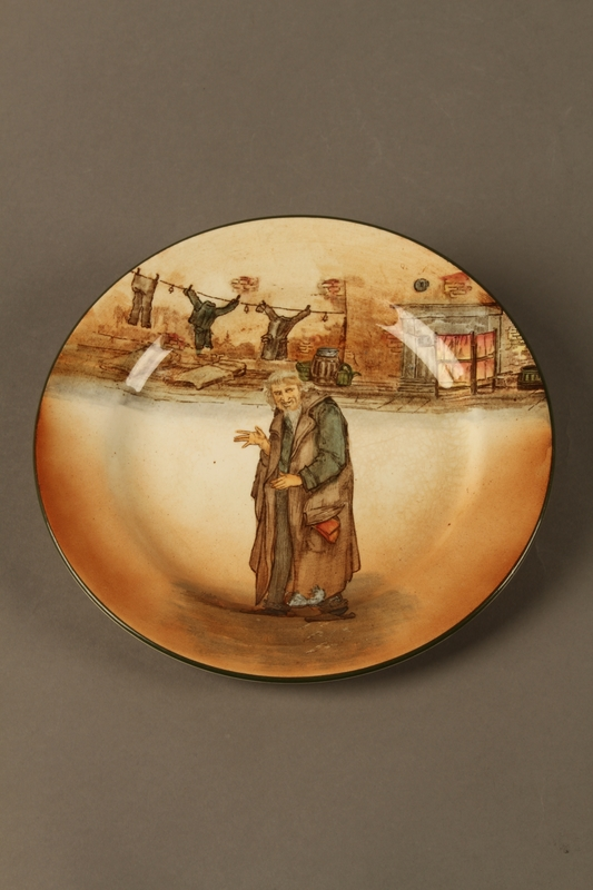 2016.184.69 front Royal Doulton Dickens ware dinner plate with Fagin