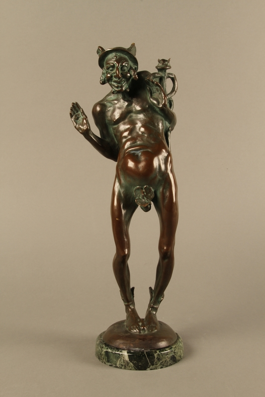2016.184.96 front Bronze statue of a Jewish man as the pagan god Mercury