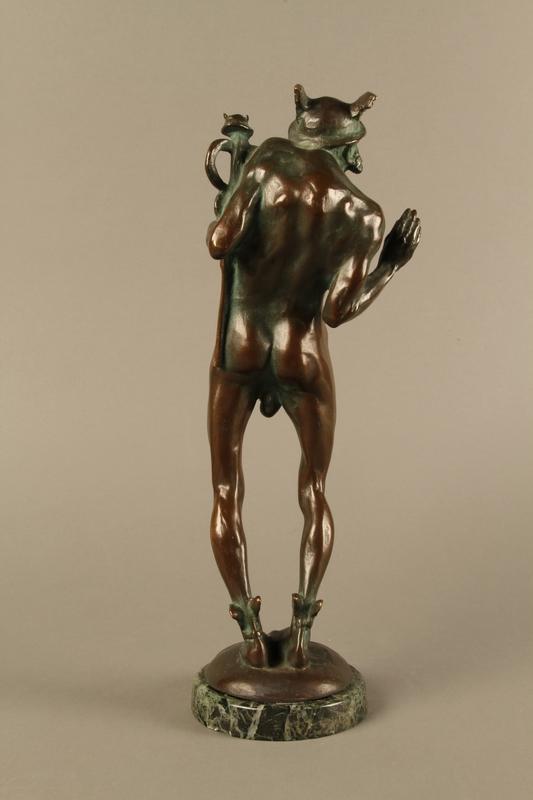 2016.184.96 back Bronze statue of a Jewish man as the pagan god Mercury