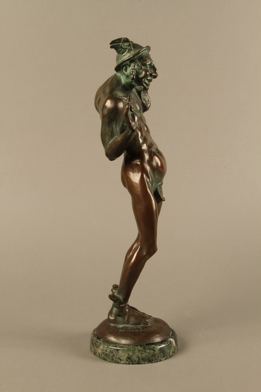 2016.184.96 right side Bronze statue of a Jewish man as the pagan god Mercury