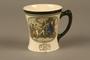 Porcelain mug with a scene of Oliver Twist meeting Fagin