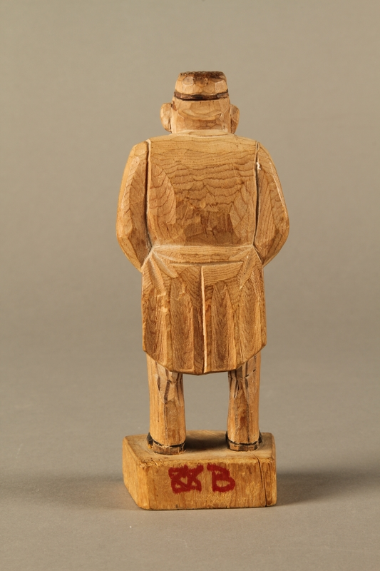 e3ab92c7234 2016.184.106 back Carved wooden figure of a Jewish doctor in white coat and  head ...
