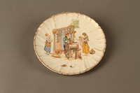 2016.184.126 front Porcelain plate with a scene of a Jewish pawn shop owner and Gentile customer  Click to enlarge