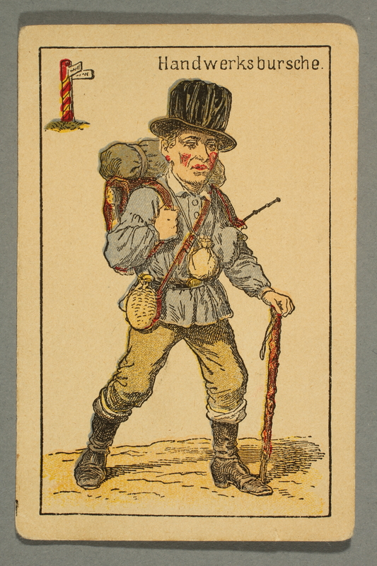 2016.184.132 b front Schwarzer Peter playing card deck with German social roles
