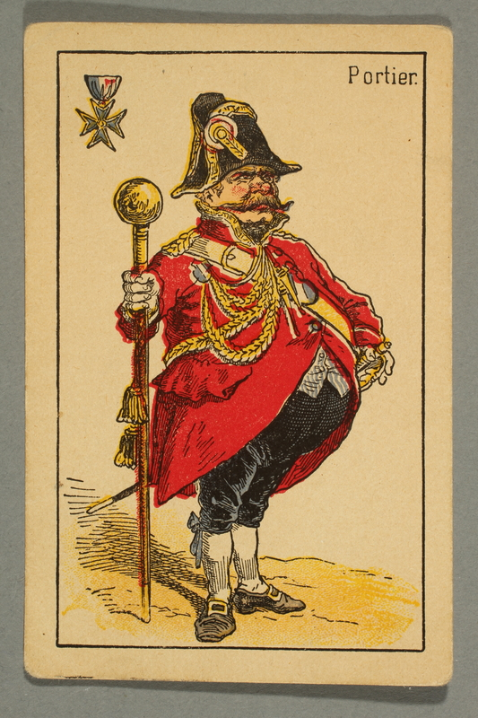 2016.184.132 d front Schwarzer Peter playing card deck with German social roles