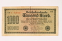 Weimar Germany, 1000 mark note