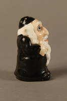 2016.184.137 right side Porcelain salt shaker of a caricatured Orthodox Jewish man  Click to enlarge