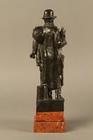 2016.184.142 back Bronze figure of a Jewish peddler by Anton Mashik  Click to enlarge