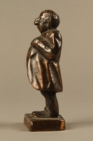 2016.184.146 left Bronze figurine mocking a pompous Jewish man with an accent  Click to enlarge