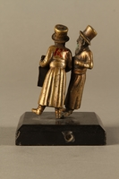 2016.184.149 back Bronze figurine of two Jewish men standing in conversation  Click to enlarge