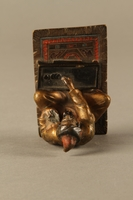 2016.184.150 top Painted bronze figurine of a Sephardic Jewish money changer  Click to enlarge