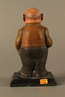 2016.184.152.1 back Painted wooden figurine of a Jewish banker  Click to enlarge