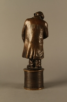 2016.184.155 back Bronze statue of a Jewish money changer  Click to enlarge