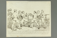 2016.184.158 front Gillray etching of Jewish boxer Mendoza in 1st Humphreys bout  Click to enlarge