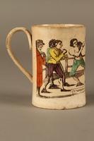 2016.184.156 right side Staffordshire creamware mug of final Mendoza v. Humphreys bout  Click to enlarge