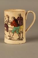 2016.184.156 left side Staffordshire creamware mug of final Mendoza v. Humphreys bout  Click to enlarge